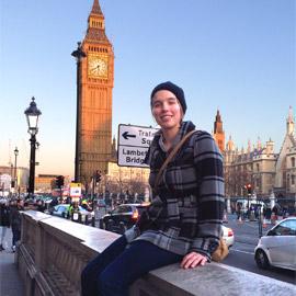 Mein<BR>Auslandspraktikum<BR>in Portsmouth, UK-Anna Zeitlhofer - Zeit zum Ausspannen